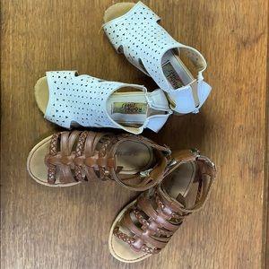 Toddler girls sandals 2 pair size 9 & 10